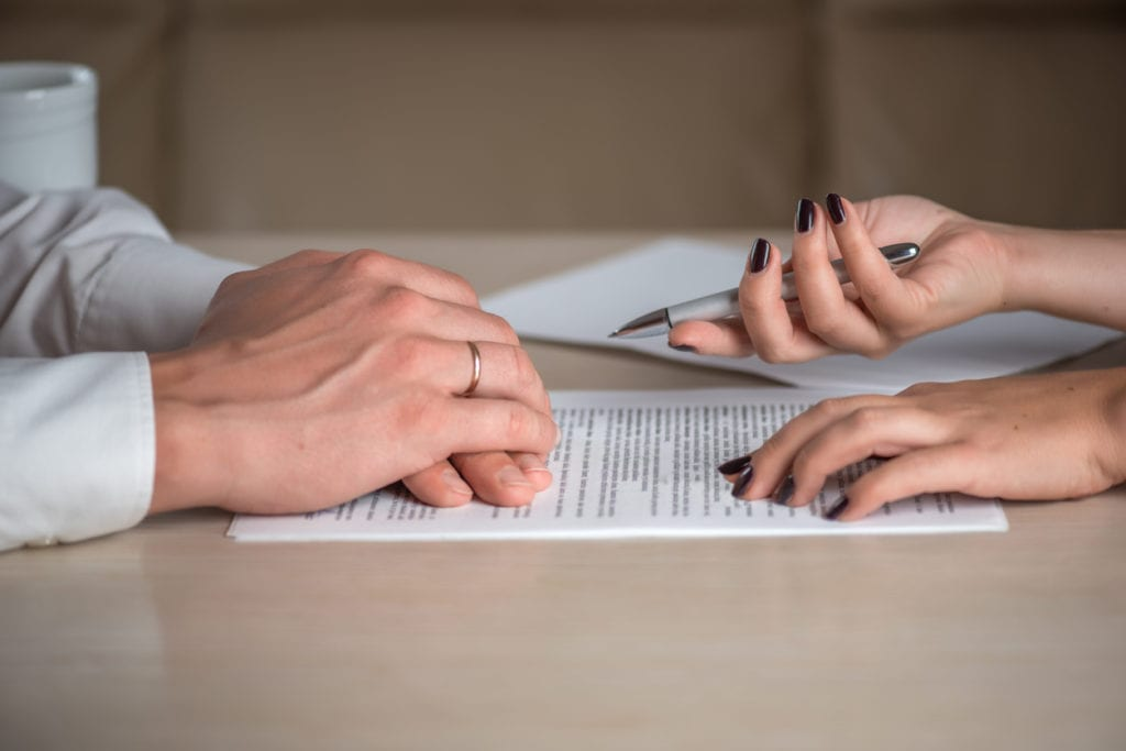 terms in divorce documents